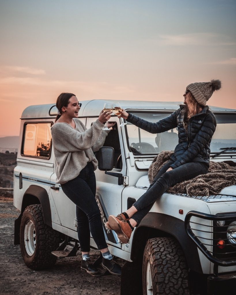 Girls connecting